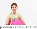 Asian Three Generation Family in Hanbok, Korean Traditional Clothes 25409139