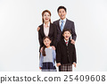 Asian Family Portrait / Isolated on White 25409608