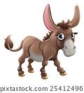 Cartoon Cute Donkey Farm Animal 25412496