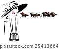 Woman in a horse racecourse 25413664