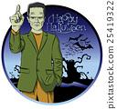 Vector Cartoon Frankenstein Halloween 25419322