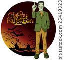 Vector Cartoon Frankenstein Halloween 25419323