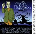 Vector Cartoon Frankenstein Halloween 25419489