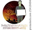 Vector Cartoon Frankenstein Halloween 25419494
