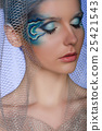 woman with face art mermaid 25421543