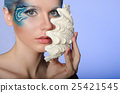 woman in make mermaid with seashell 25421545