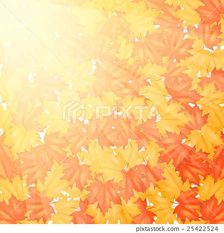 red and yellow autumn leaves pattern stock illustration 25422524