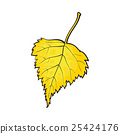 Beautiful yellow colored autumn birch leave 25424176