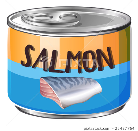 Salmon in aluminum can 25427764