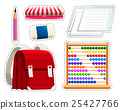 Sticker set of different stationaries 25427766