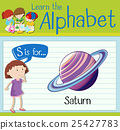 Flashcard letter S is for saturn 25427783