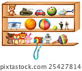 shelf, toys, ball 25427814