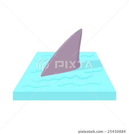 Shark in the sea icon in cartoon style 25430884