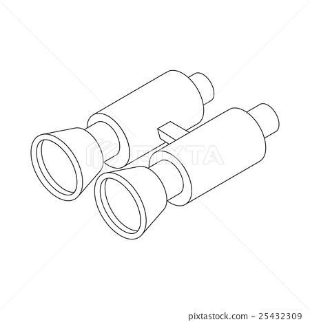 Binocular icon in isometric 3d style 25432309