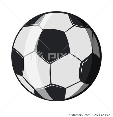 Soccer ball icon, cartoon style 25432452