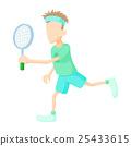 사람, 벡터, 테니스 25433615