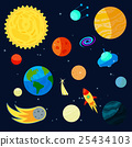 Space Icons set, cartoon style 25434103