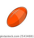rugby, ball, vector 25434681