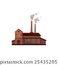 Factory building icon, cartoon style 25435205
