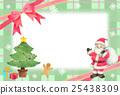クリスマス サンタクロース フレーム 25438309