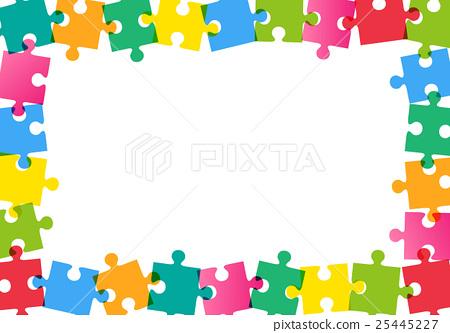 puzzle, frame, jigsaw - Stock Illustration [25445227] - PIXTA