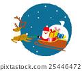 クリスマス サンタとトナカイ 25446472