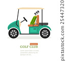 Golf Club Symbol Banner. Vector 25447320