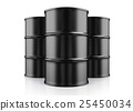 3D illustration of Oil Barrels on White Background 25450034