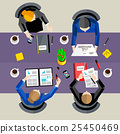 Business concept. Top view workspace background 25450469