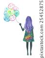 風船と少女 25452875
