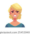 Pretty blond woman, angry facial expression 25453940