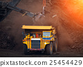 big mining truck unload coal in coal mine 25454429