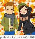Autumn Couple Listening Music 25456166