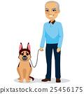 Senior Man With Dog 25456175