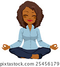 African American Businesswoman Yoga 25456179