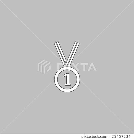 gold medal computer symbol 25457234