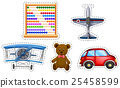 Sticker set of many toys 25458599