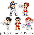 Sticker set of kids doing many sports 25458614