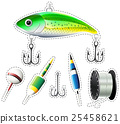 Sticker set of fishing equipment 25458621