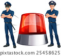 Police officers and siren light 25458625