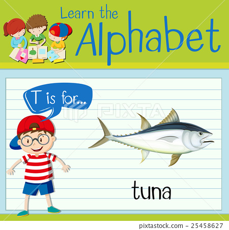 Flashcard letter T is for tuna 25458627