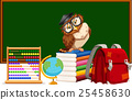 Blackboard and many educational materials 25458630