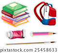 Sticker set with school equipment 25458633