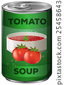 Tomato soup in aluminum can 25458643