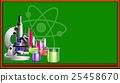 Science equipment and blackboard 25458670