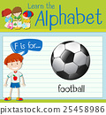 Flashcard letter F is for football 25458986