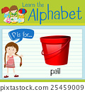 Flashcard letter P is for pail 25459009