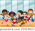 Children in different sport costumes 25459021