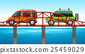 Two cars on the bridge 25459029