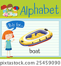 Flashcard letter B is for boat 25459090